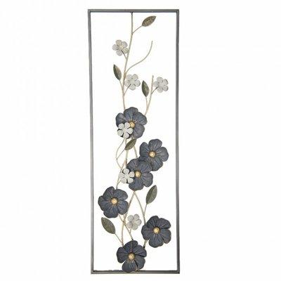 Wanddecoratie Bloemen IJzer 90 cm