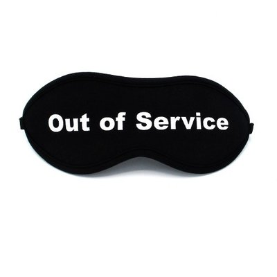 "Slaapmasker ""Out of service"""