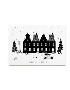 Fijne Kerstdagen zwart wit