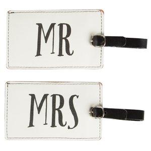 koffer labels man vrouw mr mrs