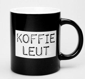 mok koffie koffieleut zwart