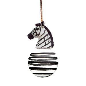 kerstbal zebra