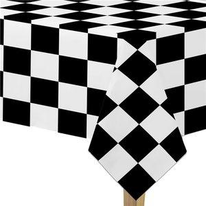 Grand Prix Tafelkleed Zwart wit