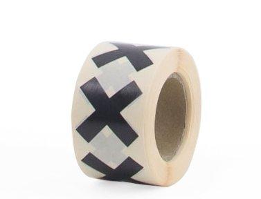 stickers kruis cross zwart set 10