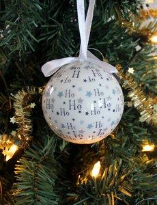 Kerstbal HO HO set 2