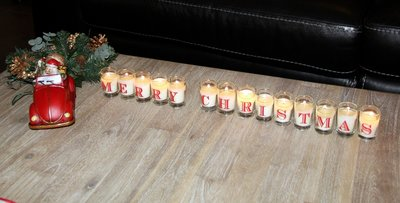 Merry Christmas Candles
