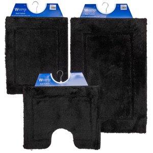 Badmat zwart60 cm x 90 cm