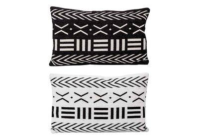 Kussens Set 2 stuks zwart wit