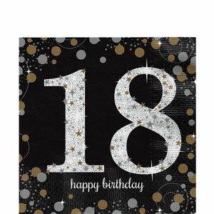 18 jaar Happy Birthday servetten