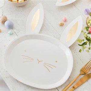 Bordjes Bunny | Pasen 8 stuks per pak Crazy Daisy Easter Bunny Plate - 35x24cm