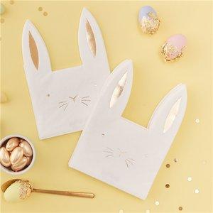Servetten Pasen Bunny 22 cm.  16 stuks Papier.