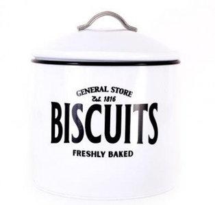 zwart wit Koektrommel Biscuits emaille look