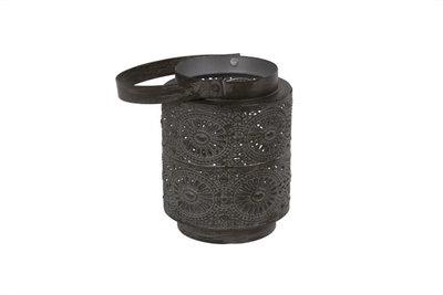 Theelichthouders Blackbrush 12,5 cm metaal