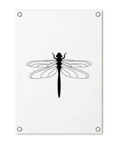 Tuinposter met Libelle