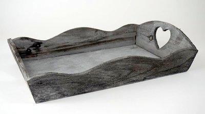 Dienblad Walsh L grijs 44x29,5x10,5cm
