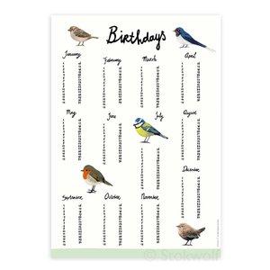 Verjaardagskalender Birds