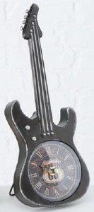 Klok Gitaar 35cm zwart metaal staand model