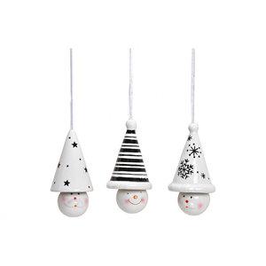 Hanger sneeuwpop keramisch3 assorti