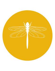 Muurcirkel/tuincirkel met Libelle 20cm