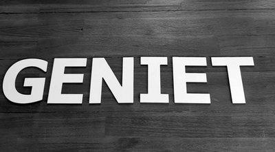 GENIET - losse letters voor op de muur
