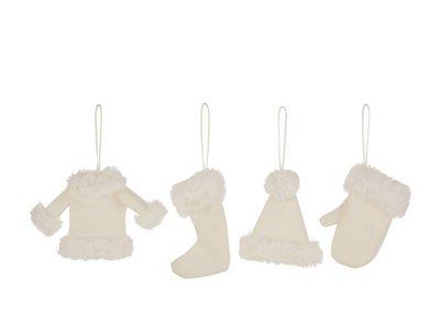 Kerstkleding Kerstboomhangers Textiel Beige hangers