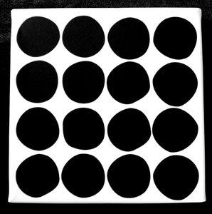 Canvasdoek Stippen | Zwart/Wit