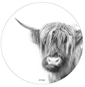 Schotse Hooglander Grijs muurcirkel