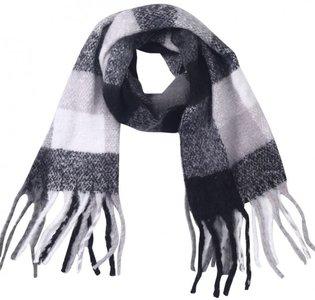 Sjaal Grijs zwart wit