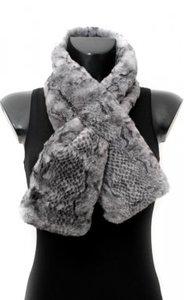 Sjaal met opening om de sjaal doorheen te halen grijs