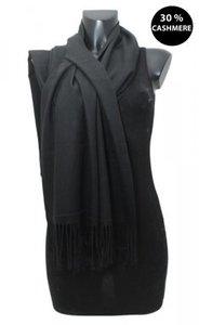 sjaal zwart Kasjmier