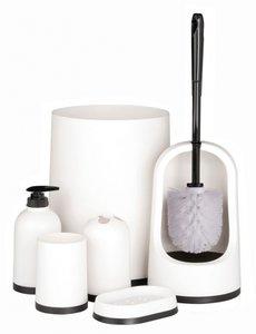 Badkamer- en toiletset (7 delig)  7 delige badkamer- en toiletset Kleur: wit Materiaal: