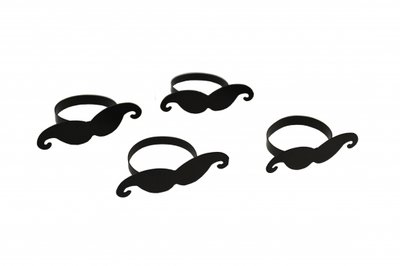 Servetringen Moustache set 4