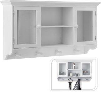 Keukenkastje/Kapstok met kast / Kastje met kapstok   Bijzonder fraai wit kastje voor in de badkamer, keuken of in de hal.