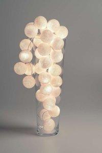 Cotton Ball Lights   Zwart   Wit   20 stuks