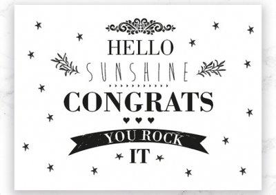 Kaart Hello Sunshine Congrats