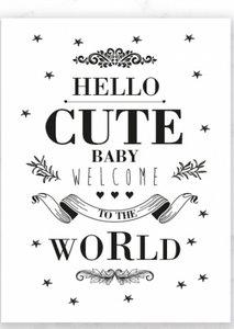 KaartHello Cute Baby welcome