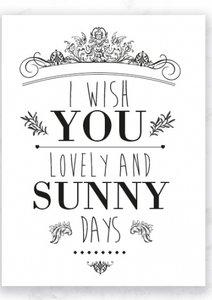Kaart Sunny Days