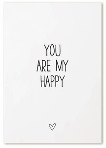 "Kaart ""You are my Happy"""
