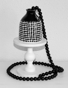 Woonketting | Zwarte kralen |130 cm.
