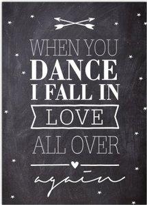 Kaart   When you dance