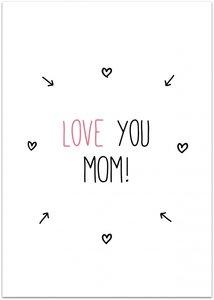 Kaart | Love you Mom!