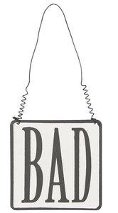 Tekstbordje | BAD | ijzer