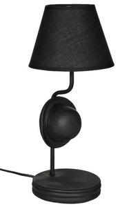 Schemerlamp met leuke bolhoed!  Een unieke lamp met zwarte bolhoed.