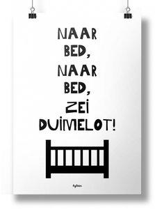 Poster | Duimelot | zwartwit