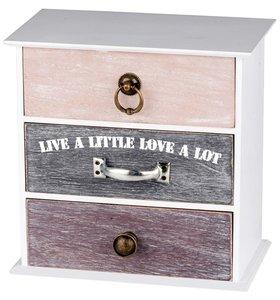 "Kastje / Sieradenkastje / Opbergkastje "" Live a little Love a lot"""