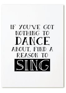Kaart  | DANCE, SING