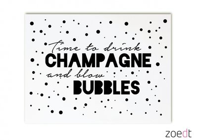 Kaart  | Time to drink champagne/Stip