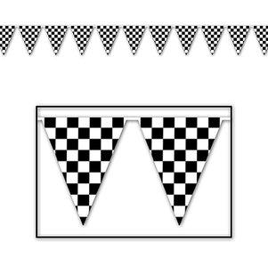 Vlaggenlijn zwart wit ruit 3,7