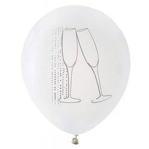 Ballonnen champagne wit