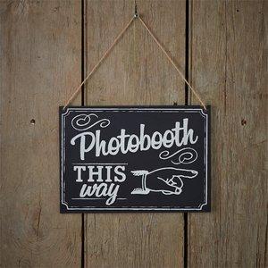 Tekstbord Photobooth This Way
